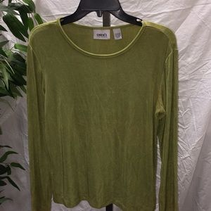 Chico's Travelers Collection Long Sleeve Top